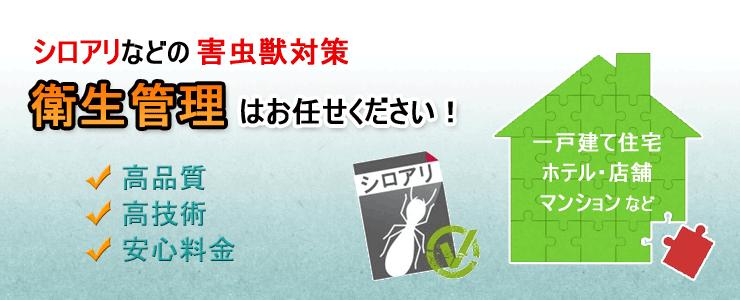 シロアリ駆除対策(防蟻) 衛生管理はお任せください